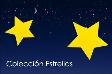 Sábanas de punto con aplicación estrellas